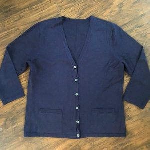Ralph Lauren navy cardigan - Sz S (see post)